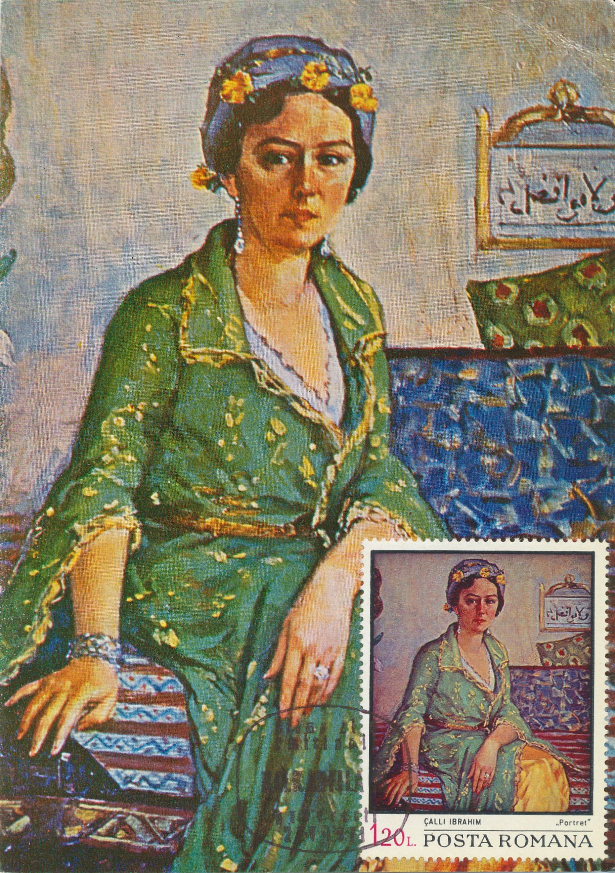 Woman in Green Dress, Mrs. Vicdan Moralı's Portrait
